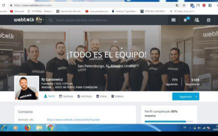 URGENTE Webtalk Español   Red Social para Ganar Dinero Paypal