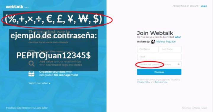 Web Talk el unico social network que te permite ganar dinero extra.