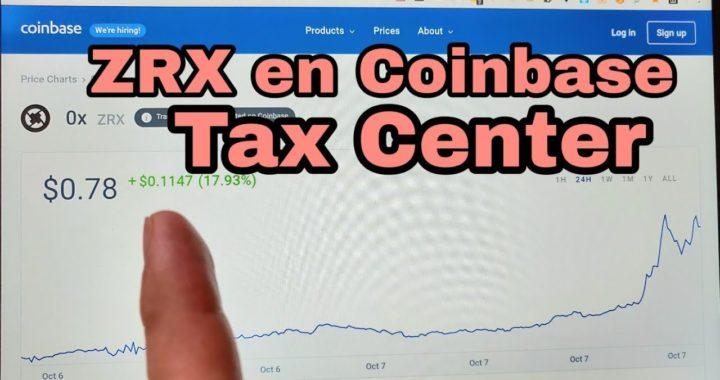 ZRX en Coinbase TAX CENTER. Demás monedas que aparecen sus precios, no aparecen en el TAX CENTER.