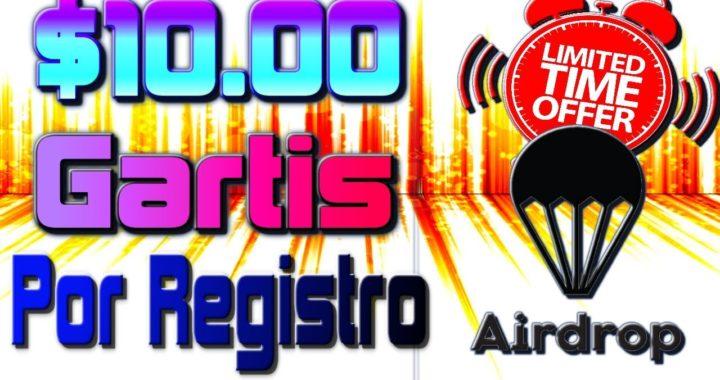 $10 GRATIS Por Registro y Verificación Nuevo Airdrop Tengo Dinero