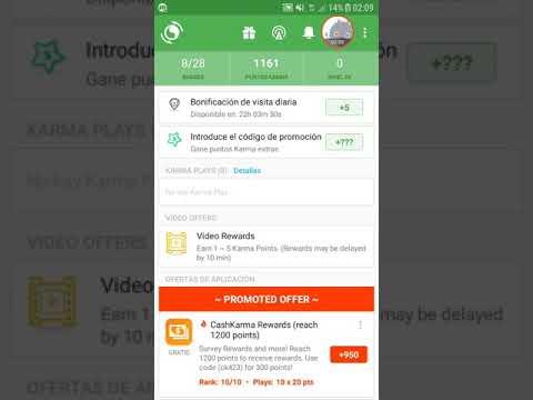 Appkarma: gana dinero facil con la app Appkarma / como ganar dinero con la app Appkarma (PayPal)