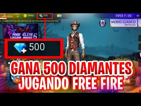 Como obtener 500 diamantes, Gratis, en Free Fire - (Sin aplicaciónes ni Hacks)