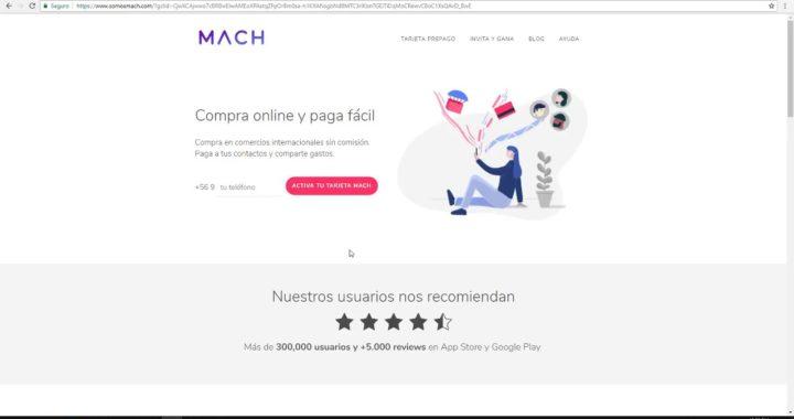 ¿DINERO GRATIS EN CHILE  Tarjeta Virtual MACH 2018 / paga netflix spotify amazon todo con cuenta rut