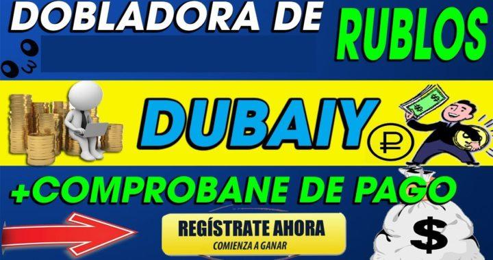 Dubaiy | Dobla tus rublos En poco Tiempo 370 Rublos retirados