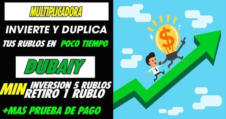 Duplica Dinero invirtiendo Min 5 Rublos  y recibe 10 en Corto Plazo  + Prueba de pago