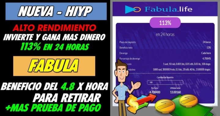 Fabula | Genera mas dinero Invirtiendo GANA un 113% MAS  en 24 horas + Prueba de pago
