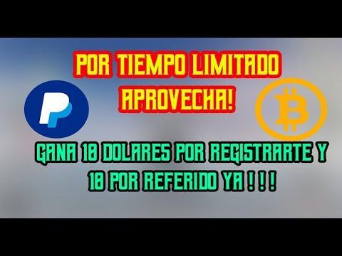 GANA $10 DOLARES POR REGISRARTE Y $10 POR INVITAR A UN AMIGO YA !!| TIEMPO LIMITADO #Tideal