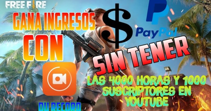 GANA DINERO CON DU RECORDER Y RECARGA DIAMANTES EN FREE FIRE *Dolares PayPal*
