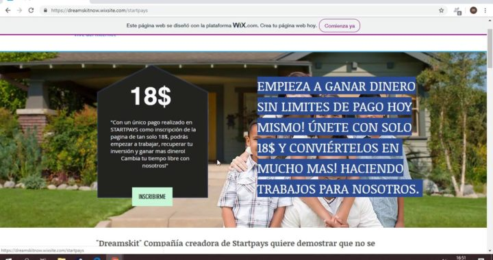 GANA DINERO ONLINE INVIRTIENDO SOLO $18 2018 | Startpays