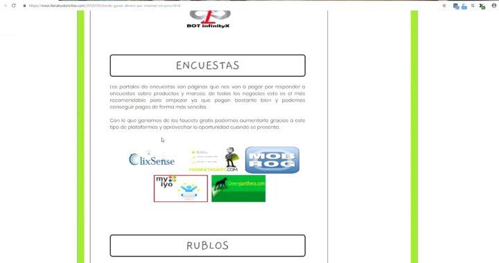 Ganar dinero Online en Peru 100% EFECTIVO