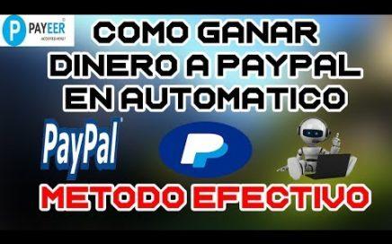 GENERA DINERO DESDE CASA EN AUTOMÁTICO A PAYPAL Y PAYEER | Earn Money GANA DINERO FÁCIL