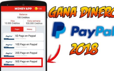 Money App | Gana DINERO PAYPAL 2018 | Ronny