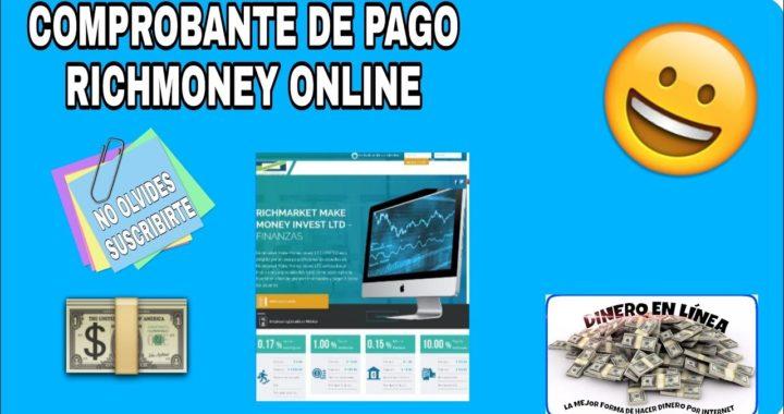 Nueva Página de Inversión Richmarket.online Comprobante de Pago HD