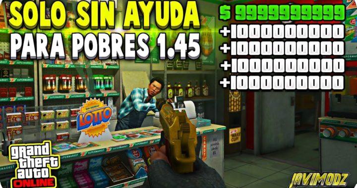 SOLO SIN AYUDA! DINERO INFINITO PARA POBRES SIN BANEO MUY FACIL GTA 5 ONLINE 1.45 (PS4/XBOX ONE/PC)