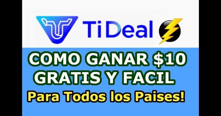 Tideal Airdrop Como Ganar $10.00 Dolares Gratis Facil y Rapido