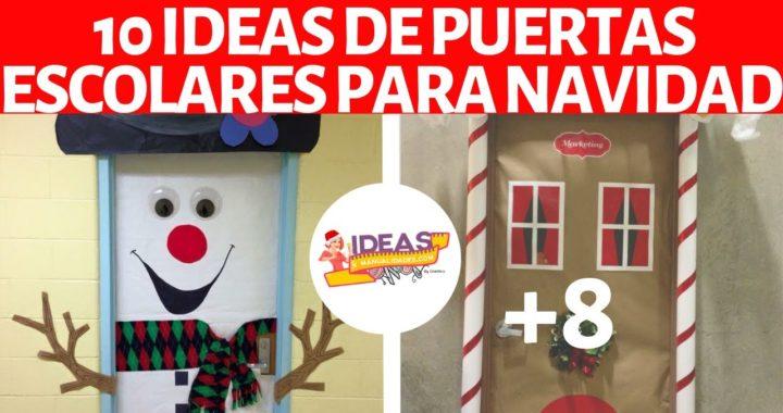 10 Ideas Para Decorar Puertas Escolares En Navidad
